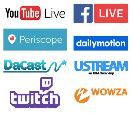 IP Kamera Livestraming : Unterstützte Plattformen